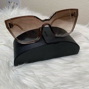 Prada SPR16T VIT-400 Sunglasses Light Brown/Gray